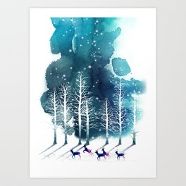 Winter Night 2 Art Print