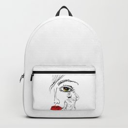 Artistic Beautiful Women Hand Drawn Sketched Glamour Backpack