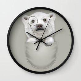 POCKET POLAR BEAR Wall Clock