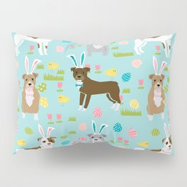 Pitbull easter dog breed pet patter rescue dog pibble lovers spring easter eggs Pillow Sham