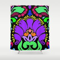 damask Shower Curtains featuring Damask by Urlaub Photography