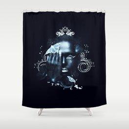 Black Silence Shower Curtain