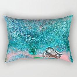 TREES AND ZEBRAS Rectangular Pillow