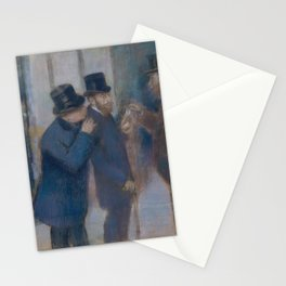 Edgar Degas - Portraits at the Stock Exchange Stationery Cards