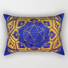 """Cosahedron, sacred geometry""  WATERCOLOR MANDALA (HAND PAINTED) BY ILSE QUEZADA Rectangular Pillow"