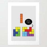tetris Art Prints featuring Tetris by Digital Sketch