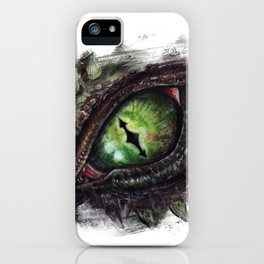 The green eye of the Dragon iPhone Case
