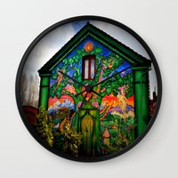 hippy Wall Clocks featuring house hippy by  Agostino Lo Coco