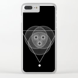 Mesh triangle geometry Clear iPhone Case