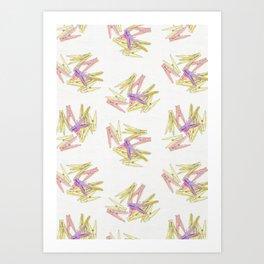 Сlothespins Art Print