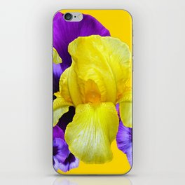 PURPLE PANSIES & YELLOW IRIS MONTAGE iPhone Skin