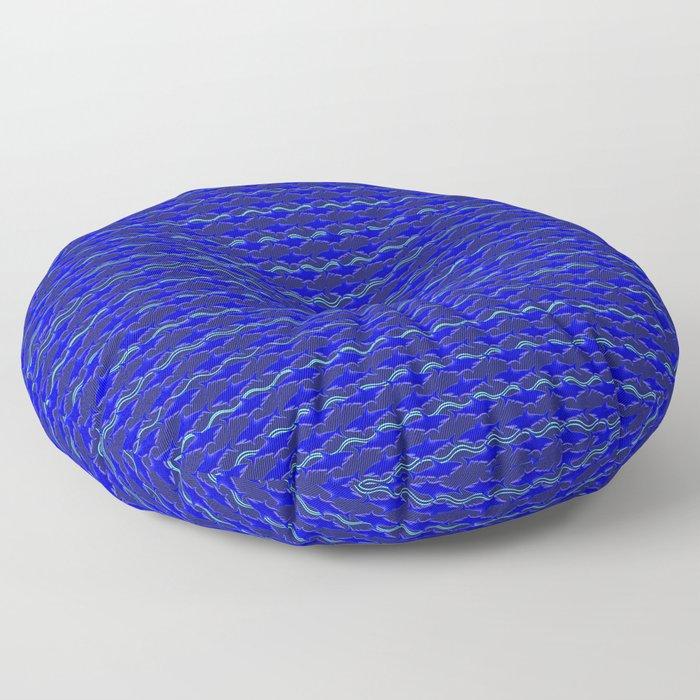 Shark Waves Floor Pillow