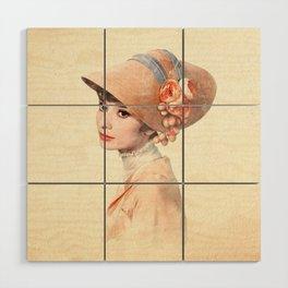 Audrey Hepburn - Eliza Doolittle - Watercolor Wood Wall Art