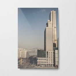 River Tower - Yeouido - Seoul Metal Print