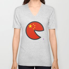 China Smile Unisex V-Neck