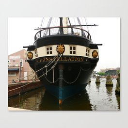 USS Constellation Detail Canvas Print