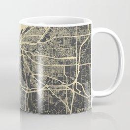 Cleveland map yellow Coffee Mug
