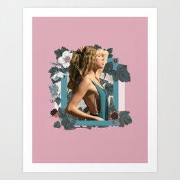 Wildberry Collage Art Print