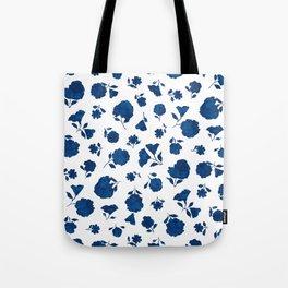Medium Indigo Shadow Bloom Tote Bag