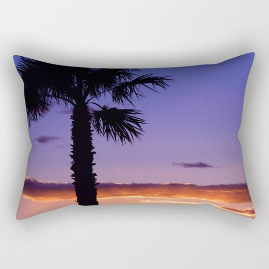 Palm Sunset - V Rectangular Pillow
