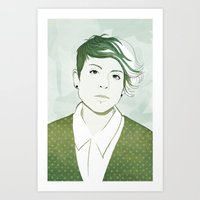 tegan and sara Art Prints featuring Tegan by GirlApe