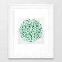 malachite Framed Art Prints featuring Malachite by Strange Charm