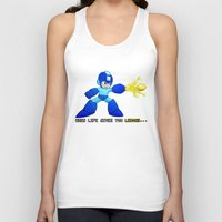 mega man Tank Tops featuring Mega Man Lemons by RetroGamerJay