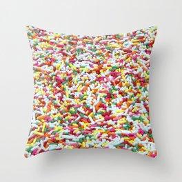 Landscape of Cake Sprinkles Throw Pillow