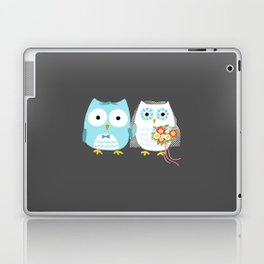 Owls Wedding Day | Bride and Groom Laptop & iPad Skin