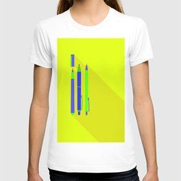 Pens Flat Design with Shadow Simplicity T-shirt