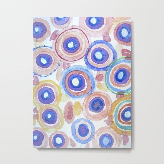 Picturesque Pastel Circles Pattern Metal Print