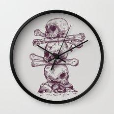 Skull Totem Wall Clock