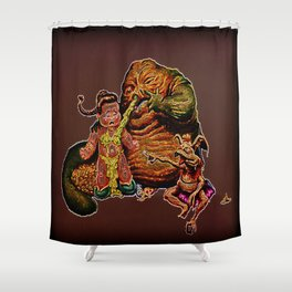 Jabba The Snot Shower Curtain