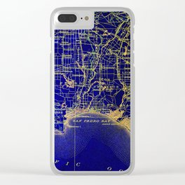 San Pedro Bay OLD MAP 1904, united states vintage maps Clear iPhone Case