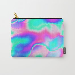 Holographic Glitch Carry-All Pouch