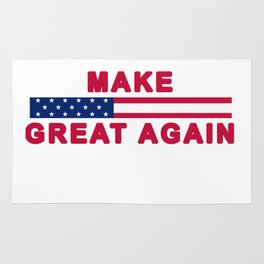 MAGA tee shirt trump supporter - Make America Great Again Rug