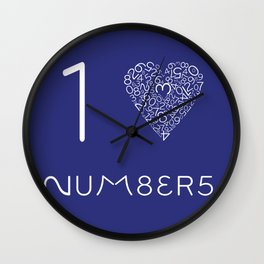 I heart Numbers Wall Clock