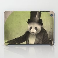 panda iPad Cases featuring Proper Panda by Chase Kunz
