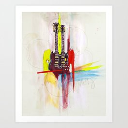 Jimmy Page's Gibson Art Print