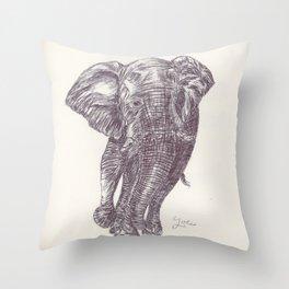 BALLPEN ELEPHANT 13 Throw Pillow