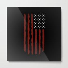 Dark USA flag Metal Print