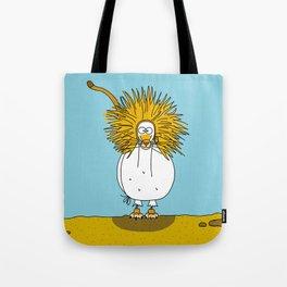 Eglantine la poule (the hen) dressd up as a lion. Tote Bag