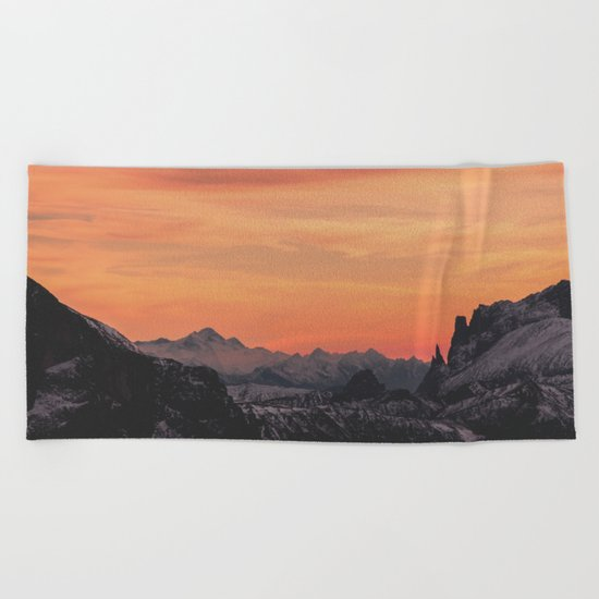 Pastel Sunset #mountains #society6 Beach Towel