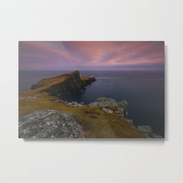 Where The Land Ends Metal Print