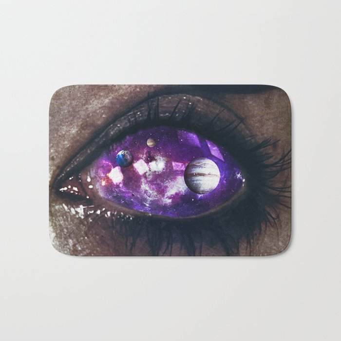 Ojos color galaxia Bath Mat
