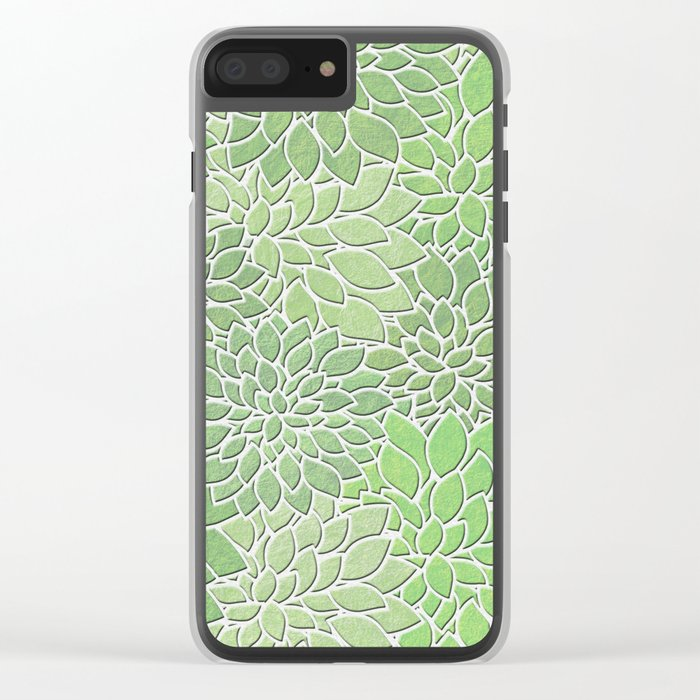 Floral Abstract 30 Clear iPhone Case