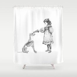 "Brix and Bailey ""Put Em Up"" Shower Curtain"