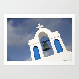 Bell tower - Santorini Art Print