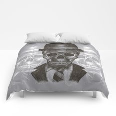 Worked To Death (Grey version) Comforters