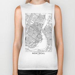 Montreal White Map Biker Tank
